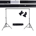 2 * 3m / 6.6 * 9.8ft Adjustable Background Support Stand Photo Backdrop Crossbar Kit with two Clamps - intl