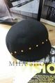 日韓新款潮流 英倫復古羊毛呢騎士馬術帽圓頂帽鉚釘-單售