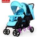 聖得貝 seebaby T33雙胞胎推車 雙人推車---藍色