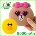 ◆Line friends Korea Power Bank 9000mAh Portable Battery Charger / Usb External