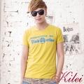 【Kilei】簡約繽紛英字棉T恤XA1443-02(搶眼黃)賠售特價