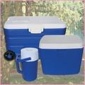外出露營通用冰桶 行動冰箱保冰桶保冰袋保溫桶保溫袋釣魚冰桶 三件組