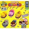 全套5款【日本正版】TSUM TSUM 小熊維尼 碰碰車 扭蛋 轉蛋 玩具車 迴力車 TAKARA TOMY - 873072