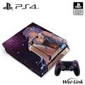 SONY PS4主機專用機身貼 小藍-魅紫(OLP-AI-02)