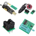 D-S☚ EEPROM BIOS USB Programmer CH341A + SOIC8 Clip + 1.8V Adapter + SOIC8 Adaptor Kit