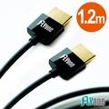FLYone 超薄HDMI轉HDMI 1.4版連接線-1.2M