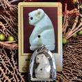 泰國佛牌正品2544龍婆本冠蘭虎王白色帶外殼DDPRA卡包郵貝葉泰佛