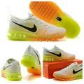 Nike FLYKNIT MAX 橘黃漸層氣墊運動鞋