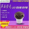 台灣製造 LED 單面發光 地埋燈 埋地燈 草地燈 投射燈 投光燈 照樹燈 戶外庭院 公園 池塘 防水 射燈 情境照明