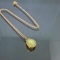 สร้อยคอทอง 14เค พร้อมจี้โอปอลแท้ ( Natural Opal Necklace/14k Gold)