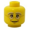 公主樂糕殿 LEGO 樂高 80102 60155 年夜飯 團圓飯 爺爺 聖誕老人 頭 黃色 (A-248)