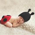 滿月百日宴服裝 針織毛衣套裝 立體瓢蟲造型 兒童攝影服裝 寶寶連身爬服 嬰兒照相衣服