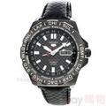 SEIKO 手錶 SRP723K1 精工5號 手自動機械 夜光 賽車 世界時間 鍍黑 皮帶 男錶
