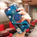 Blue Ray 3D Camera Case for OPPO R11S Plus Cases Soft Silicone Stand Holder TPU Cover Phone Case for OPPO R11S Plus Case