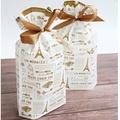 εїз 5入【現貨】15*17+6公分 復古鐵塔束口袋 立體式包裝袋收納袋  禮物包裝袋糖果餅乾包裝袋新年福袋禮品福袋