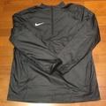 Nike shield 日本限定 男運動風衣外套 衝鋒衣 復古半拉鍊 防風防潑水 訓練跑步健身重訓籃球足球穿搭 全黑 L
