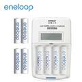 Panasonic國際牌 eneloop低自放電充電組(3號4號各4入+旗艦液晶充電器) (LS01+4MCC+3MC-E)