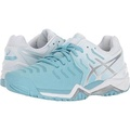 ASICS Womens Gel-Resolution neaker, Porcelain Blue/Silver/White,