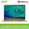 Acer Swift 1 (SF114-32-C5FL) 14-Inch IPS Narrow Border Thin and Light Laptop (Gold)