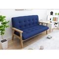 快樂窩創意傢俱 現貨 三天內出貨《悠閒午後》深藍 三人沙發 二人沙法 雙人沙發 布沙發 亞麻布 皮沙發 北歐風