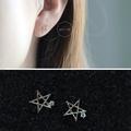 ◆艾尚BJ04-法式手工輕珠寶-純14K黃金。精緻拉絲麻花鏤空星星鑲單鑽耳環 手環手鏈CDC凱莉包