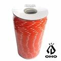 [ OHO ] 多功能耐候 5mm 營繩 橘白50m / Polyester / GR52BOW-OH50