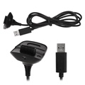 XBOX 360 Games Wireless Controller Battery Charging Cable Black