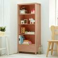 CiS自然行實木家具 書櫃一抽-原木書櫃(溫暖柚木色)