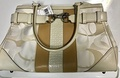 (Coach) Coach Lvoryoptic Carryall Tote Handbag-