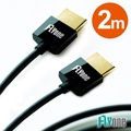 FLYone 超薄HDMI轉HDMI 1.4版連接線-2M