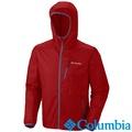 Columbia哥倫比亞-防潑極快排連帽外套-鮮紅色