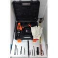 鋰電電鑽 龍韻 16.8V 震動衝擊電鑽 附塑膠手提盒 鑽頭套筒組 充電電鑽/電動起子/電動工具 保固半年