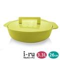 日本南部鐵器 i-ru 琺瑯鑄鐵淺鍋26cm(3.3L)-檸檬黃