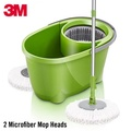 3M Scotch-Brite 360° Spin Mop Bucket Set with 2 Microfiber Mop Heads