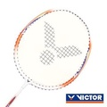 VICTOR 亮劍穿線拍-羽球 羽毛球拍 訓練 勝利 橘白