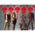 【橘果設計】紅燈籠高高掛(靜電貼)新年 壁貼 牆貼 壁紙 DIY組合裝飾佈置 過年新年