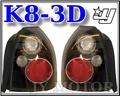 ☆小傑車燈精品☆全新 超炫 喜美 6代 K8 3門 3D EK9 黑框 尾燈 一組1600 K8尾燈