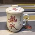 陶瓷三件式泡茶杯 有蓋(無光釉)