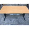 木紋色主管OA桌 會議桌 休閒桌 折疊桌 工作桌 OA辦公桌電腦桌 辦公桌 書桌 洽談桌 A1088【晶選二手傢俱】