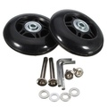 2pcs Luggage Suitcase Replacement Wheels Axles Repair Parts 75×22mm