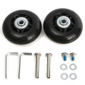 2pcs  Luggage Suitcase Replacement Wheels Axles Deluxe Repair 63×28mm