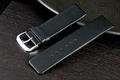 黑色高質感16mm替代ck armani原廠錶帶直身真牛皮製錶帶