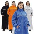JUMP 飄美雙側開亮光連身質感一件式風雨衣(加大尺寸5XL 180cm以上適穿)寶藍5XL 蝦皮24h
