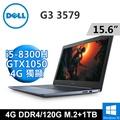 "DELL G3-3579-R4148LTW 15.6""(i5-8300H/4G DDR4/120G M.2+1TB/GTX1050 4G/Win10/FHD)"