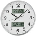 Seiko Analogue Digital Wall Clock QXL013S