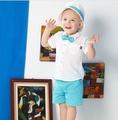 Roberta di Camerino 諾貝達童裝 男童 周歲禮盒 襯衫+領結 套裝3件組-春夏