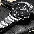 LIGE นาฬิกาผู้ชายแฟชั่นกีฬานาฬิกาควอตซ์ Reloj Hombre LIGE Luxury เต็มรูปแบบนาฬิกาธุรกิจกันน้ำ Relogio Masculino 9832