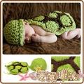 愛穎購物【KA696114】可愛烏龜殼造型 寶寶純手工毛線編織造型衣服 嬰兒滿月/百天拍照服飾服裝