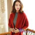 【Decoy】經典雙色*棉柔針織脖圍/紅