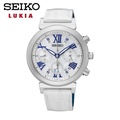 SEIKO SSC849J1《LUKIA系列 林依晨 限量款》36mm/光動能三眼計時款/銀x白皮帶【第一鐘錶】